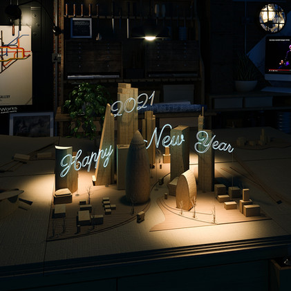 Happy New Year and keep 3d rendering