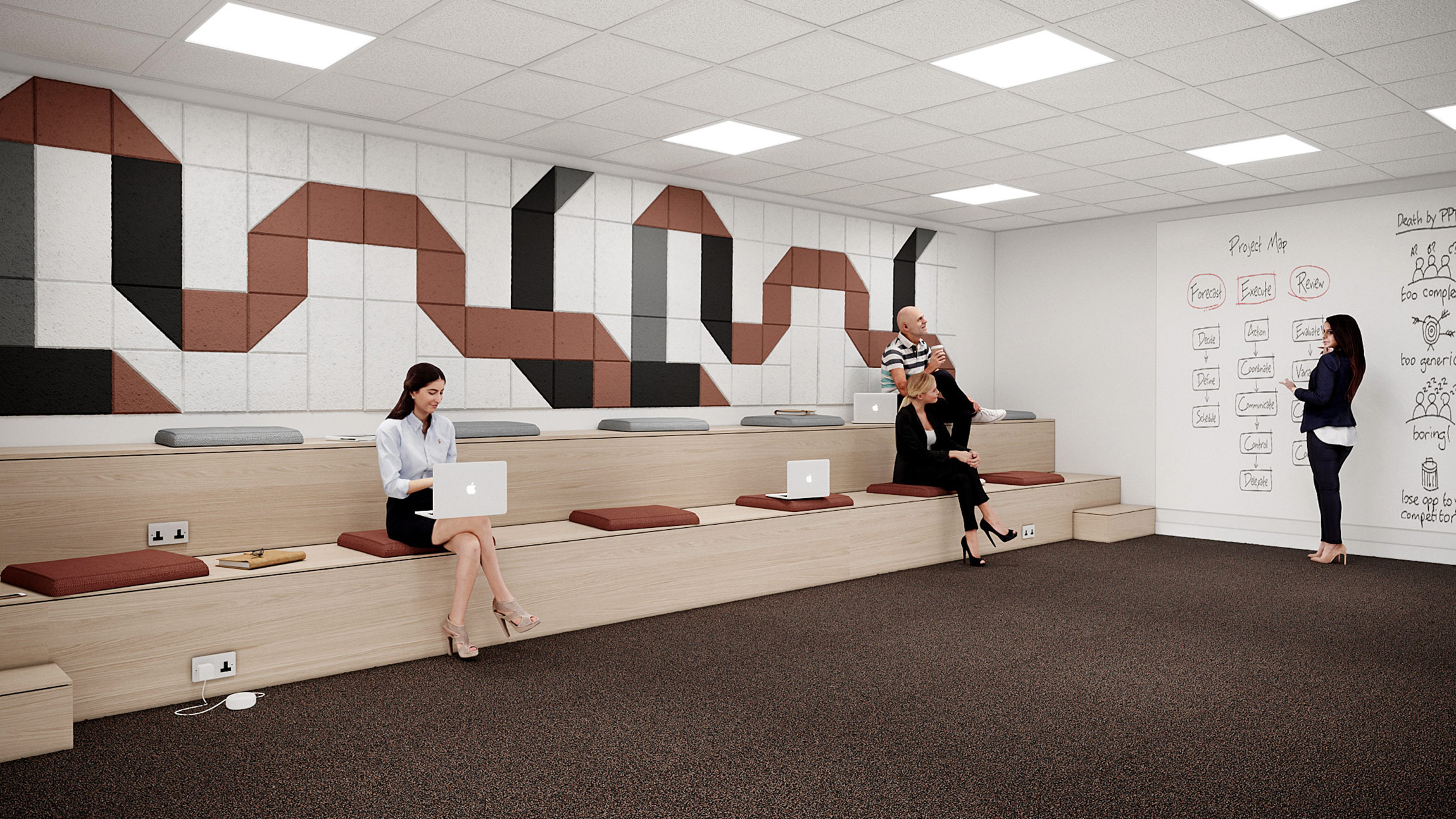 Aecom interior designing showcase area 3d visualisation project