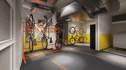 74 Coleman Street Cycle area CGI project. Designed by The Archer Architects
