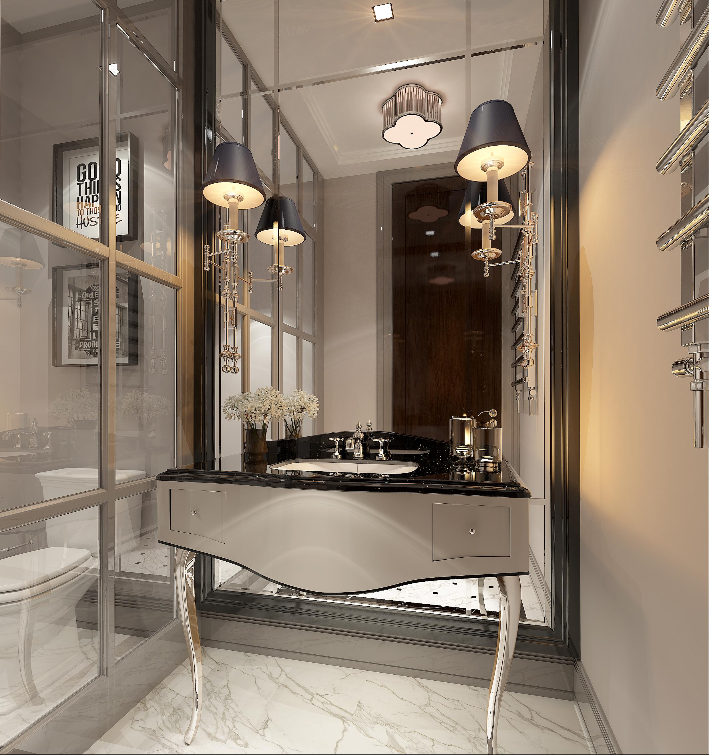 3d Bathroom design rendering