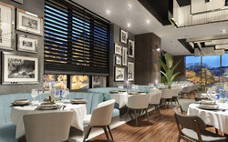 3d restaurant rendering and design in UK