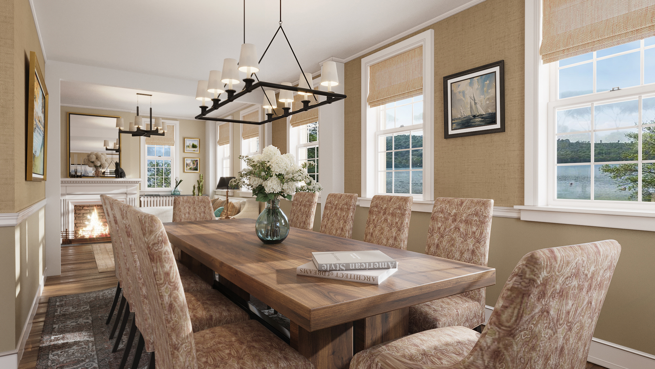 Interior dinning room rendering