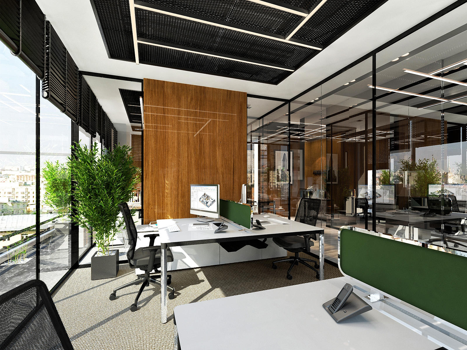 We provide realistic 3d office space rendering,  3d workspace visualization services in London
