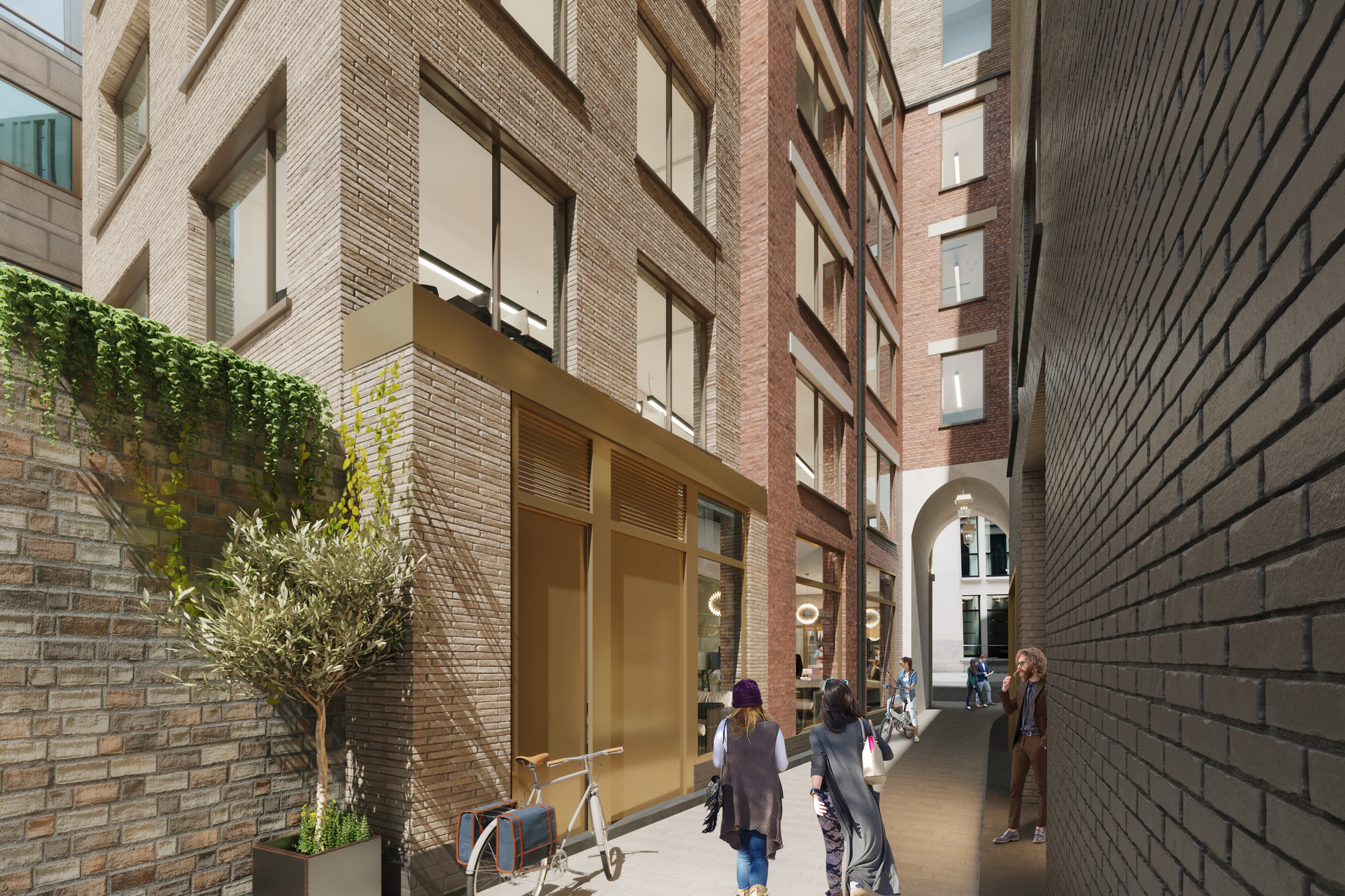 The Coleman street  3d exterior  project. Designed by The Archer Architects