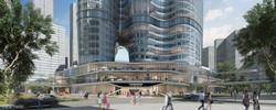 The Oppo podium CGI's for  The Zaha Hadid Architects