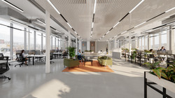 Spacelab Fulham St. workplace  3d Visualization project