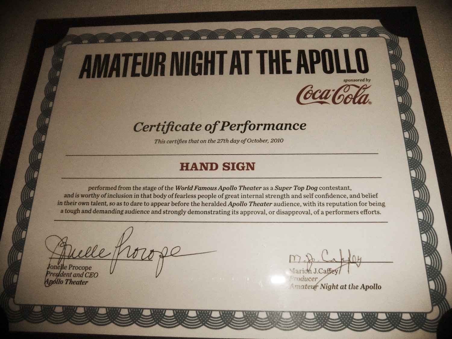NY Apollo Theater Amateur Night