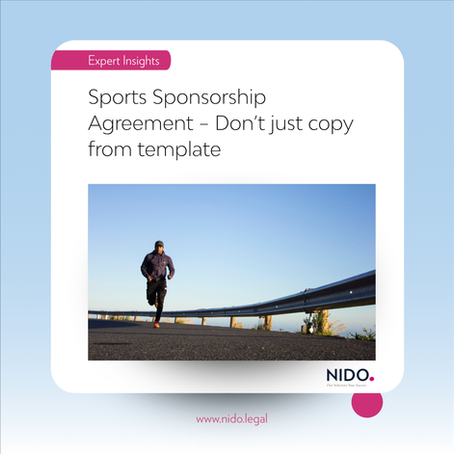 Sports Sponsorship Agreement – Don't just copy from template