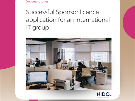 Successful Sponsor licence application for an international IT group