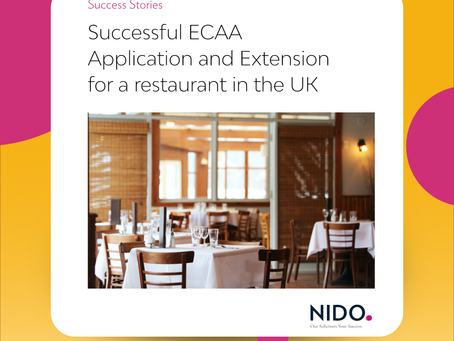 Successful ECAA Application and Extension for a restaurant in the UK
