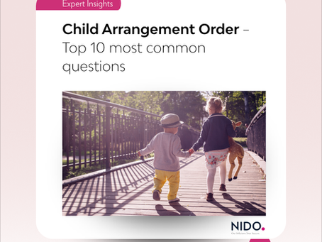 Child Arrangement Order – Top 10 most common questions