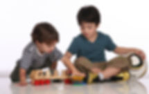 Kids with ASD playing in occupational herapy