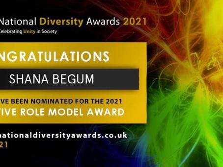 Nomination for National Diversity Award 2021