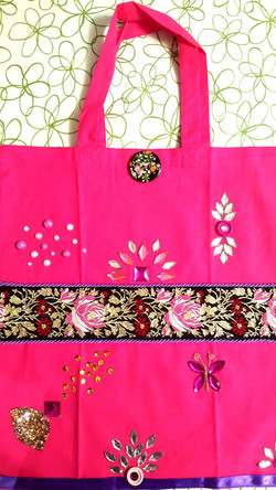 Decorative bag with handles