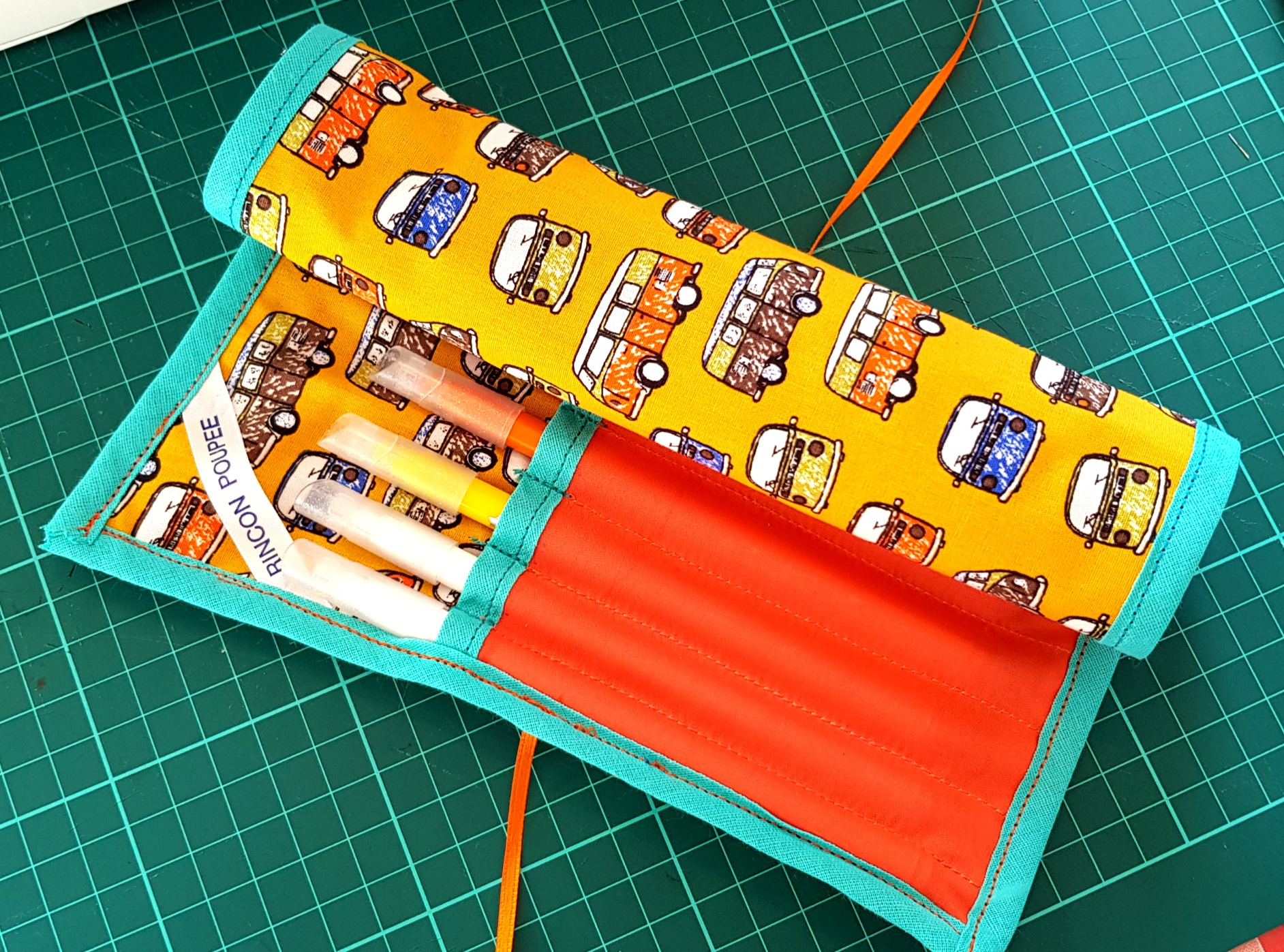 Fabric pencil pouch