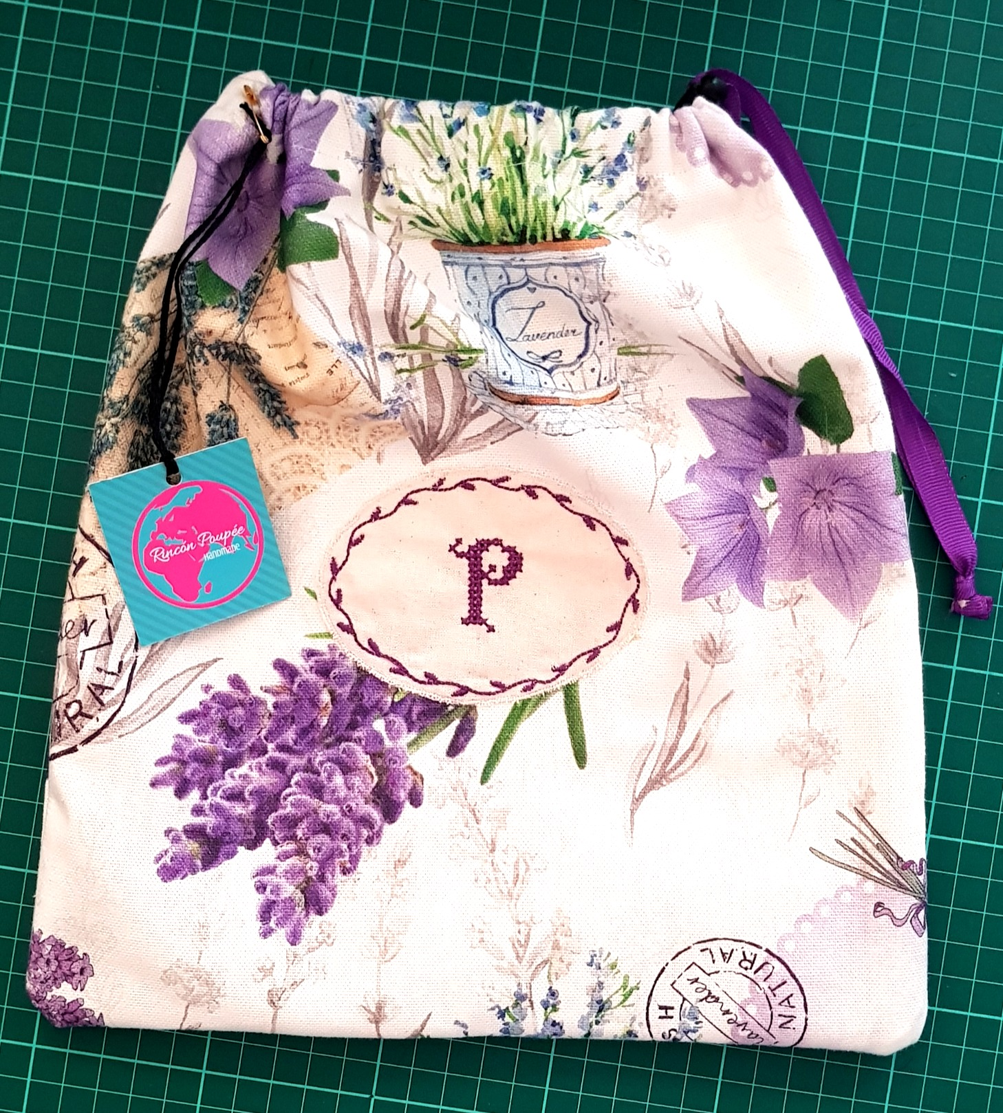 Initials Embroidered bag