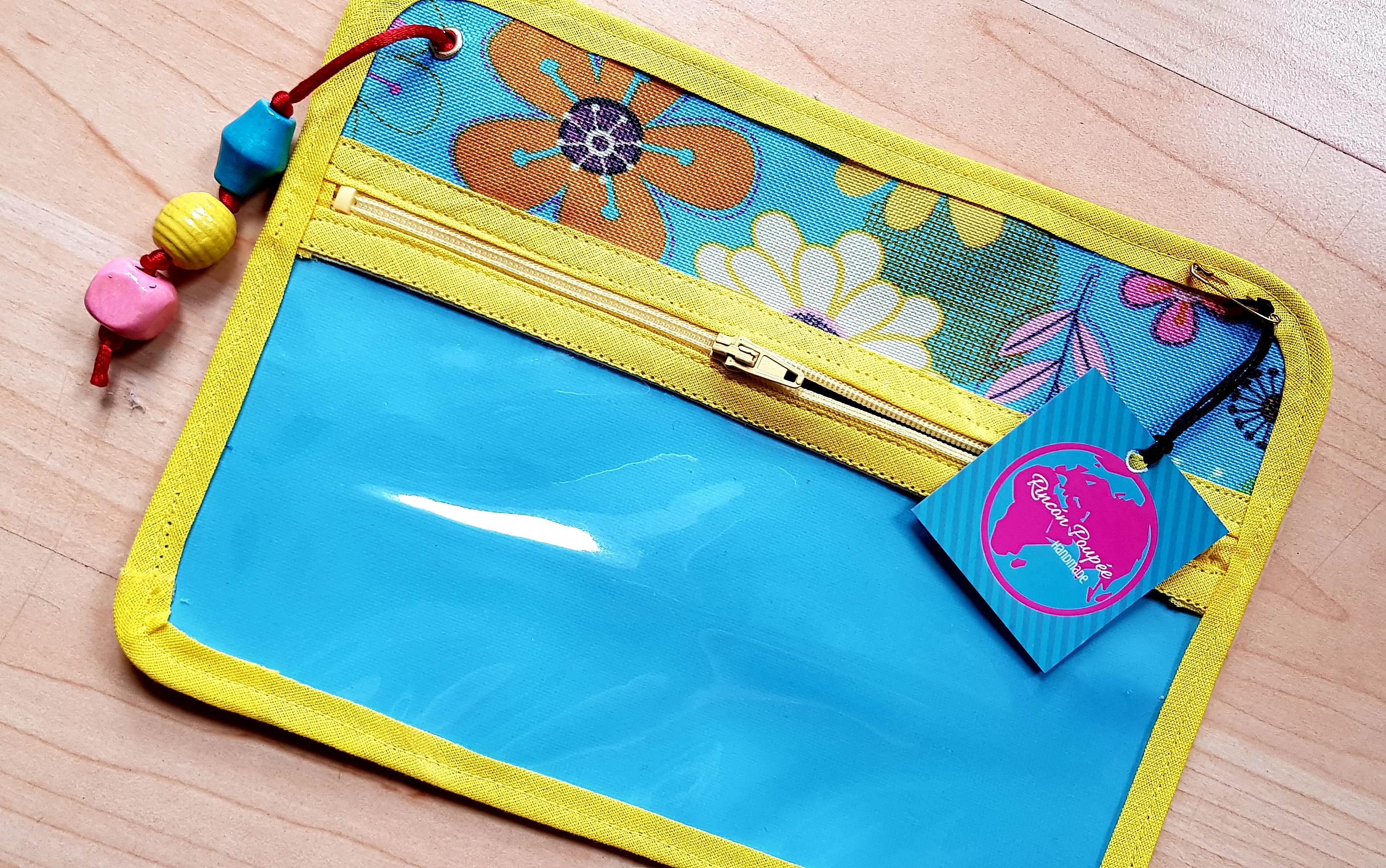 Pvc pouch with applique