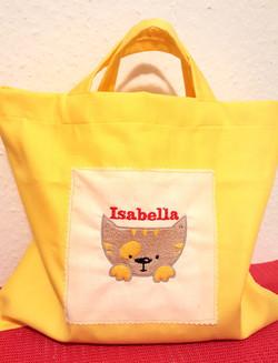Bolsa con nombre y dibujo bordado