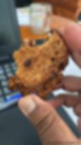 cookies banane manioc aux pépites de chocolat