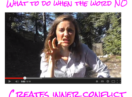 """What to do when the word """"NO"""" triggers inner conflict"""