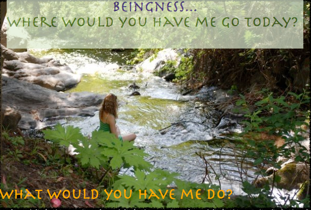 Beingness What would you have me do? Where would you have me go?