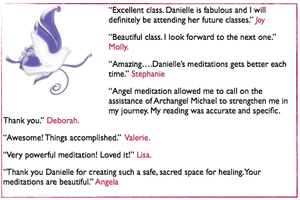 testimonials for danielle dove angel meditation