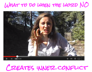 what to do when the word no triggers inner conflict