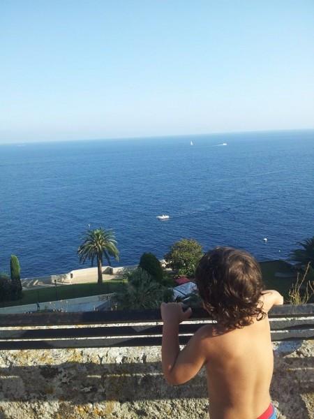 Hayden overlooking the ocean in Monaco