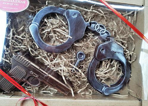 """Набор """"наручники +пистолет"""""""