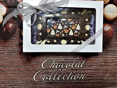 Открытка шоколадная новогодняя