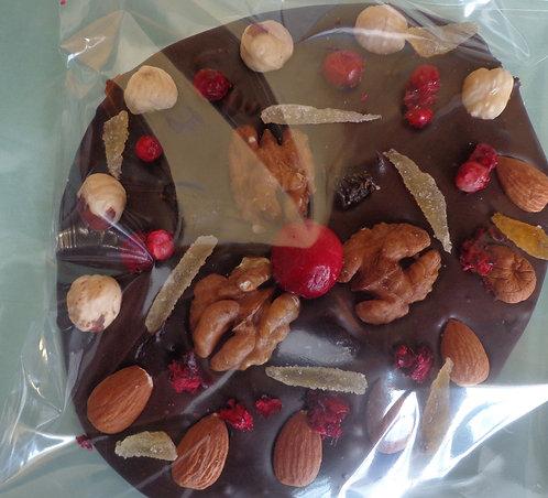 Шоколадная плитка -медальон