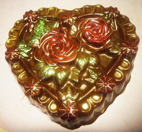 Сердце с розочками ( 60 гр, 7,5*7 см)