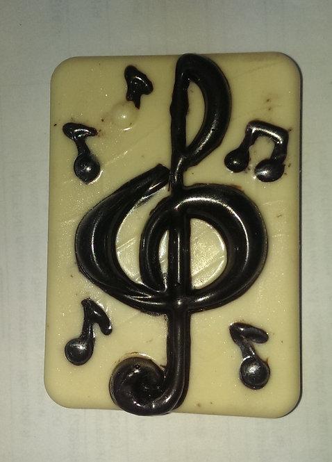 Скрипичный ключ с нотками