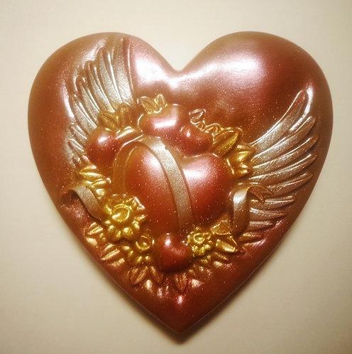 Сердце с крыльями (60 гр, 7,5*8,5 см)