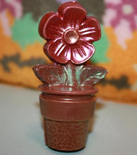 Цветок в горшке 3D (60 гр, 9*5 см)
