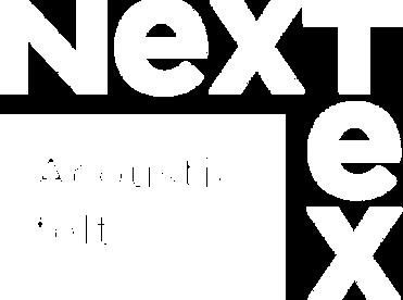 NexTex acoustic felt logo vit.png