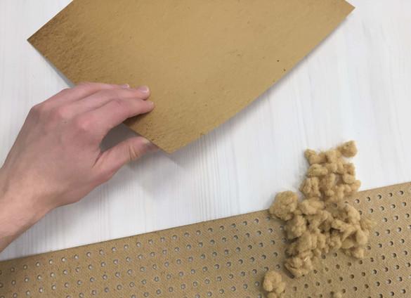 Renewed fiber board