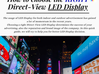 How to choose the RIGHT LED Display