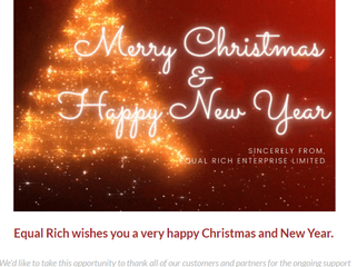 Equal Rich wishes you a very Happy Christmas and New Year!