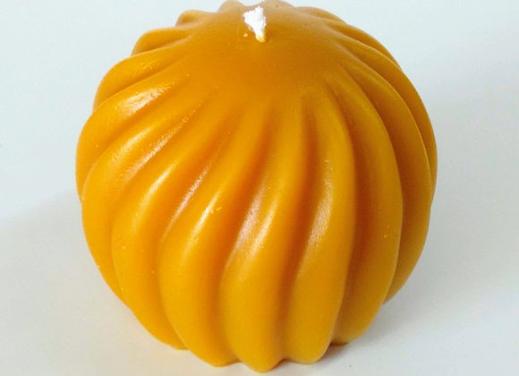 Beeswax Round Swirl Candle