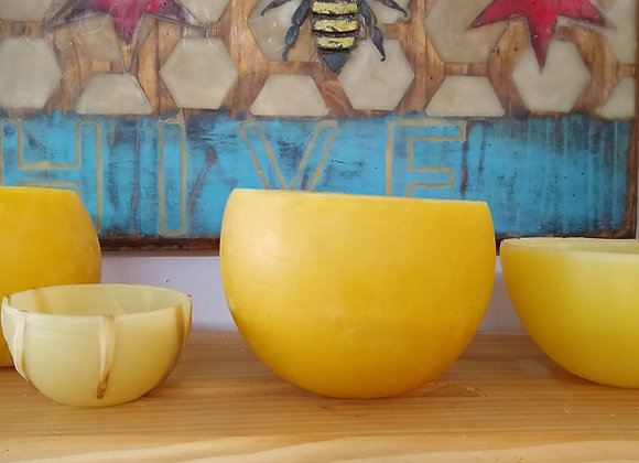 Beeswax Candle Bowl