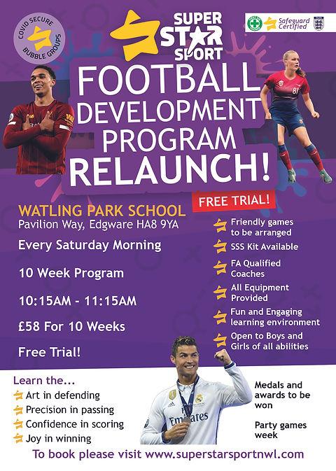 Football Academy Relaunch Flyer - Websit
