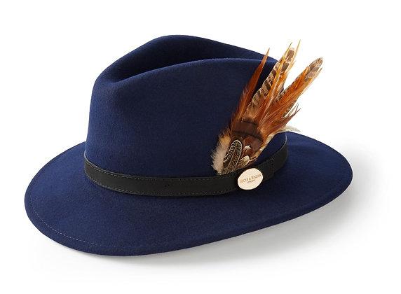 The Suffolk Fedora Gamebird Feather (Navy)