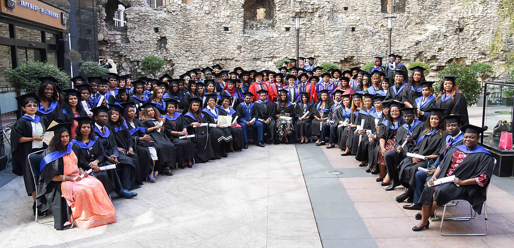 Graduation ceremony group photography