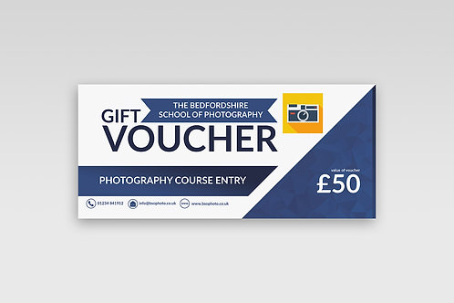 Photography Course Gift Voucher - £50.00