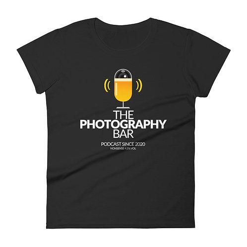 Women's Short Sleeve T-shirt (White Text)