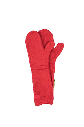 Dog Drying Mitts – For Legs & Paws (Brick Red)