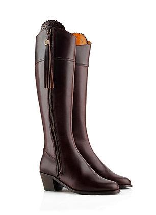 The Heeled Regina (Mahogany Leather)