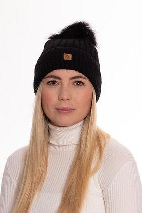 Vantage Atelier Bobble Hat (Black)
