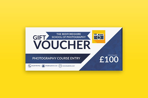Photography Course Gift Voucher - £100.00